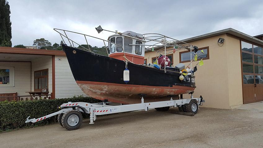 Boat storage on Elba Island